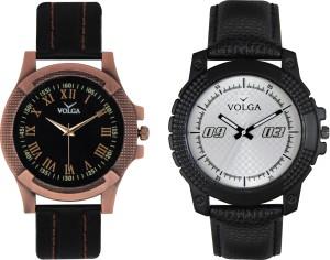 Volga Branded Leather Quality Designer Dial Diwali Special Combo471 Designer Sport Looks WaterProof Mens Watch Analog Watch  - For Men