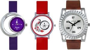 Volga Designer FVOLGA Beautiful New Branded Type Watches Men and Women Combo172 VOLGA Band Analog Watch  - For Couple