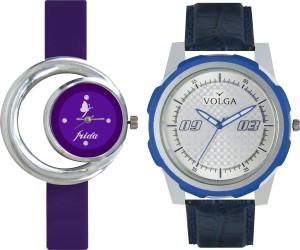 Volga Designer FVOLGA Beautiful New Branded Type Watches Men and Women Combo57 VOLGA Band Analog Watch  - For Couple