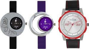 Volga Designer FVOLGA Beautiful New Branded Type Watches Men and Women Combo98 VOLGA Band Analog Watch  - For Couple