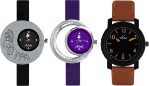 Frida Designer VOLGA Beautiful New Branded Type Watches Men and Women Combo309 VOLGA Band Analog Watch  - For Couple