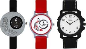 Frida Designer VOLGA Beautiful New Branded Type Watches Men and Women Combo340 VOLGA Band Analog Watch  - For Couple