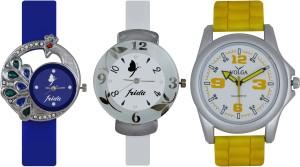 Frida Designer VOLGA Beautiful New Branded Type Watches Men and Women Combo522 VOLGA Band Analog Watch  - For Couple