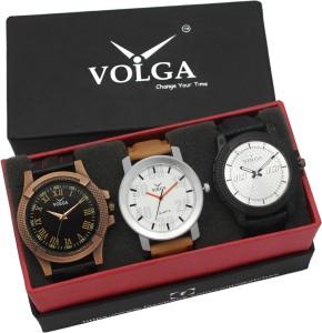 Volga VLW05-23-27-38 Mens Leather Belt Combo With Designer Stylish Branded Trendy box Analog Watch  - For Men