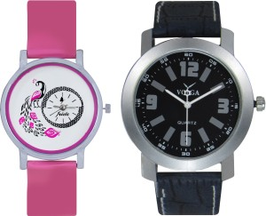 Frida Designer VOLGA Beautiful New Branded Type Watches Men and Women Combo98 VOLGA Band Analog Watch  - For Couple
