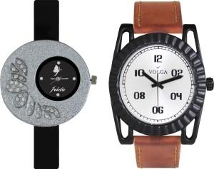 Volga Designer FVOLGA Beautiful New Branded Type Watches Men and Women Combo31 VOLGA Band Analog Watch  - For Couple