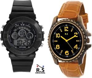 R.S diwali dhamaka offer BLACK 7 LIGHT BL101 Analog Watch  - For Boys