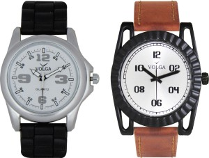 Volga Branded Leather Quality Designer Dial Diwali Special Combo30 Designer Sport Looks WaterProof Mens Watch Analog Watch  - For Men