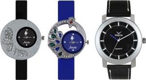 Volga Designer FVOLGA Beautiful New Branded Type Watches Men and Women Combo79 VOLGA Band Analog Watch  - For Couple