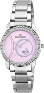 Decode LR-035 Pink Ladies Crystal Studded Analog Watch  - For Women