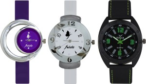 Frida Designer VOLGA Beautiful New Branded Type Watches Men and Women Combo715 VOLGA Band Analog Watch  - For Couple