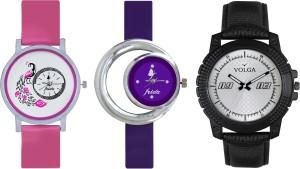 Volga Designer FVOLGA Beautiful New Branded Type Watches Men and Women Combo150 VOLGA Band Analog Watch  - For Couple