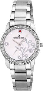 Decode LR-026 SILVER Ladies Crystal Studded Analog Watch  - For Women