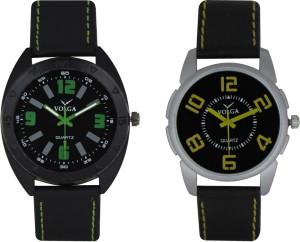 Volga Branded Leather Quality Designer Dial Diwali Special Combo348 Designer Sport Looks WaterProof Mens Watch Analog Watch  - For Men