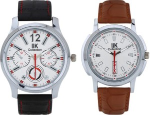 IIK Collection Combo 501M-508M Premium Round Analog Watch  - For Men
