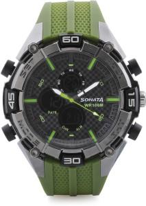 Sonata NH77028PP02 Superfibre Analog-Digital Watch  - For Men & Women