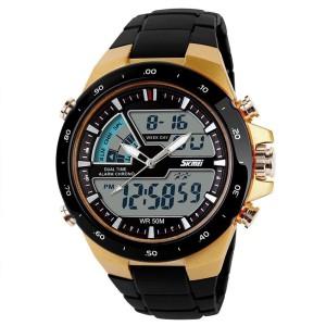 Skmei 1016-G Chronograph Analog-Digital Watch  - For Men