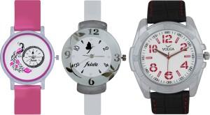 Frida Designer VOLGA Beautiful New Branded Type Watches Men and Women Combo652 VOLGA Band Analog Watch  - For Couple