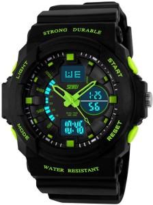 Skmei Gmarks-5590- Green Sports Analog-Digital Watch  - For Men & Women
