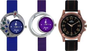 Frida Designer VOLGA Beautiful New Branded Type Watches Men and Women Combo461 VOLGA Band Analog Watch  - For Couple