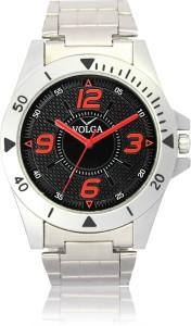 Volga VLW080002 Sports Steel belt With Designer Stylish Branded Silver Bracelet Analog Watch  - For Men
