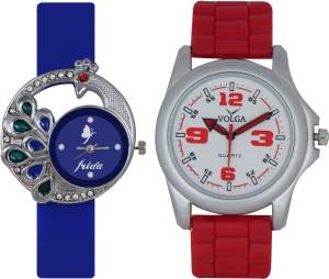 Frida Designer VOLGA Beautiful New Branded Type Watches Men and Women Combo40 VOLGA Band Analog Watch  - For Couple