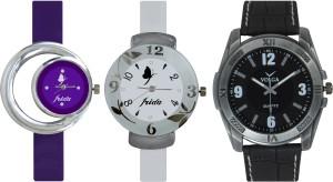 Frida Designer VOLGA Beautiful New Branded Type Watches Men and Women Combo731 VOLGA Band Analog Watch  - For Couple