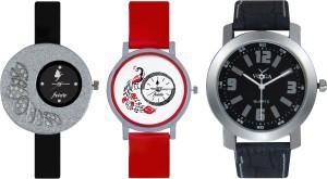 Frida Designer VOLGA Beautiful New Branded Type Watches Men and Women Combo354 VOLGA Band Analog Watch  - For Couple