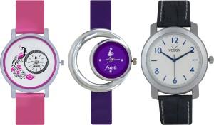 Frida Designer VOLGA Beautiful New Branded Type Watches Men and Women Combo560 VOLGA Band Analog Watch  - For Couple