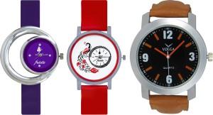 Frida Designer VOLGA Beautiful New Branded Type Watches Men and Women Combo688 VOLGA Band Analog Watch  - For Couple