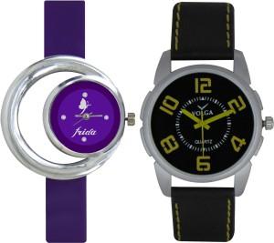 Frida Designer VOLGA Beautiful New Branded Type Watches Men and Women Combo130 VOLGA Band Analog Watch  - For Couple