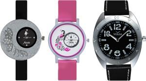 Frida Designer VOLGA Beautiful New Branded Type Watches Men and Women Combo284 VOLGA Band Analog Watch  - For Couple