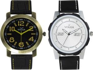 Volga Branded Leather Quality Designer Dial Diwali Special Combo618 Designer Sport Looks WaterProof Mens Watch Analog Watch  - For Men
