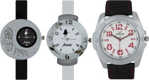 Frida Designer VOLGA Beautiful New Branded Type Watches Men and Women Combo393 VOLGA Band Analog Watch  - For Couple
