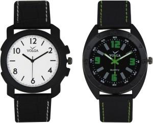 Volga Branded Leather Quality Designer Dial Diwali Special Combo206 Designer Sport Looks WaterProof Mens Watch Analog Watch  - For Men