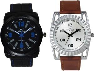 Volga Branded Leather Quality Designer Dial Diwali Special Combo604 Designer Sport Looks WaterProof Mens Watch Analog Watch  - For Men
