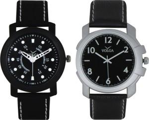 Volga Branded Leather Quality Designer Dial Diwali Special Combo280 Designer Sport Looks WaterProof Mens Watch Analog Watch  - For Men