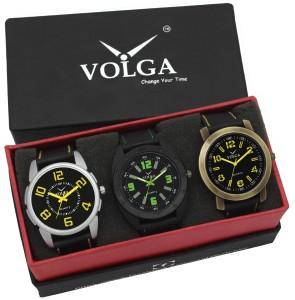Volga VLW05-18-25-33 Mens Leather Belt Combo With Designer Stylish Branded Trendy box Analog Watch  - For Men