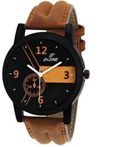 Dezine DZ-GR059-BLK-BRW Analog Watch  - For Men