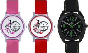 Frida Designer VOLGA Beautiful New Branded Type Watches Men and Women Combo604 VOLGA Band Analog Watch  - For Couple