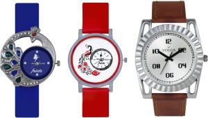 Volga Designer FVOLGA Beautiful New Branded Type Watches Men and Women Combo132 VOLGA Band Analog Watch  - For Couple