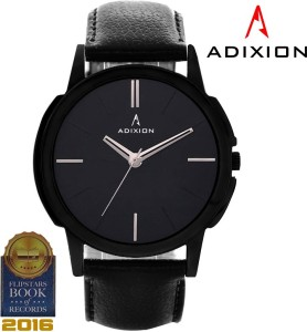 Adixion 9502NL01 New Black Strep watch with Genuine Leather Strep Analog Watch  - For Men & Women