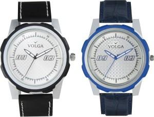 Volga Branded Leather Quality Designer Dial Diwali Special Combo661 Designer Sport Looks WaterProof Mens Watch Analog Watch  - For Men