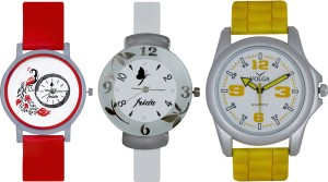 Frida Designer VOLGA Beautiful New Branded Type Watches Men and Women Combo744 VOLGA Band Analog Watch  - For Couple