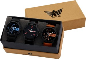Abrexo Abx-7008 Gents Modish Superior Combo Analog Watch  - For Men