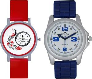 Frida Designer VOLGA Beautiful New Branded Type Watches Men and Women Combo150 VOLGA Band Analog Watch  - For Couple
