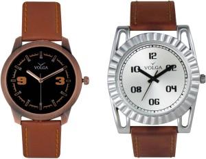 Volga Branded Leather Quality Designer Dial Diwali Special Combo428 Designer Sport Looks WaterProof Mens Watch Analog Watch  - For Men