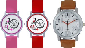 Frida Designer VOLGA Beautiful New Branded Type Watches Men and Women Combo613 VOLGA Band Analog Watch  - For Couple