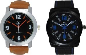 Volga Branded Leather Quality Designer Dial Diwali Special Combo550 Designer Sport Looks WaterProof Mens Watch Analog Watch  - For Men