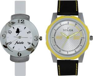 Volga Designer FVOLGA Beautiful New Branded Type Watches Men and Women Combo75 VOLGA Band Analog Watch  - For Couple